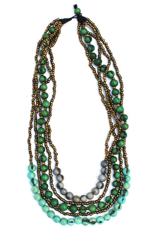 Tupiza Necklace Green Mix