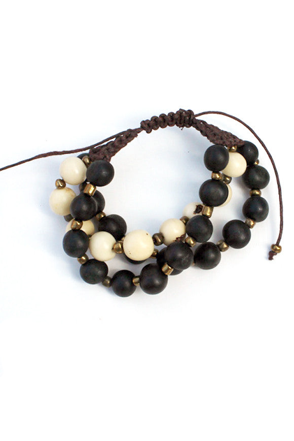 Prado Bracelet Jet Black + Natural