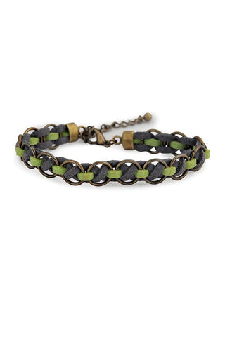 Fair Trade Ravon Bracelet Green Gray