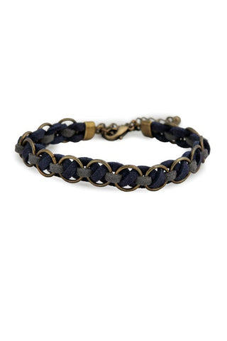 Ethical Ravon Bracelet Navy Gray