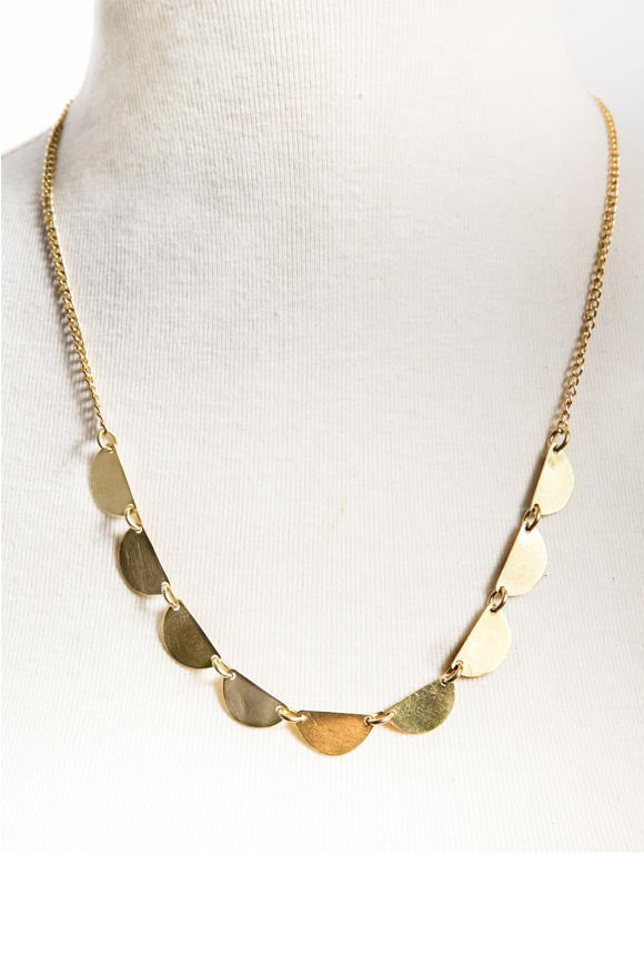 Fair Trade Brass Stevie Necklace