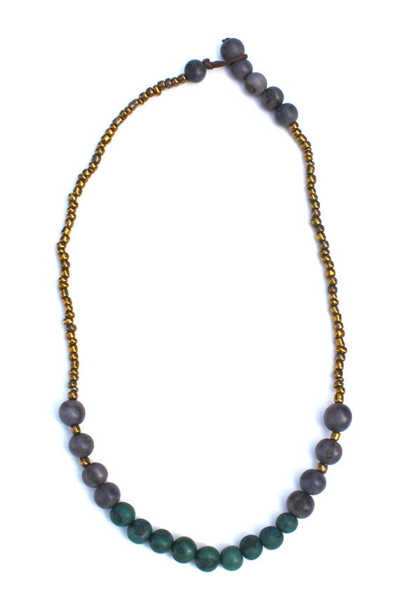 Sucre Necklace Gray/Blue