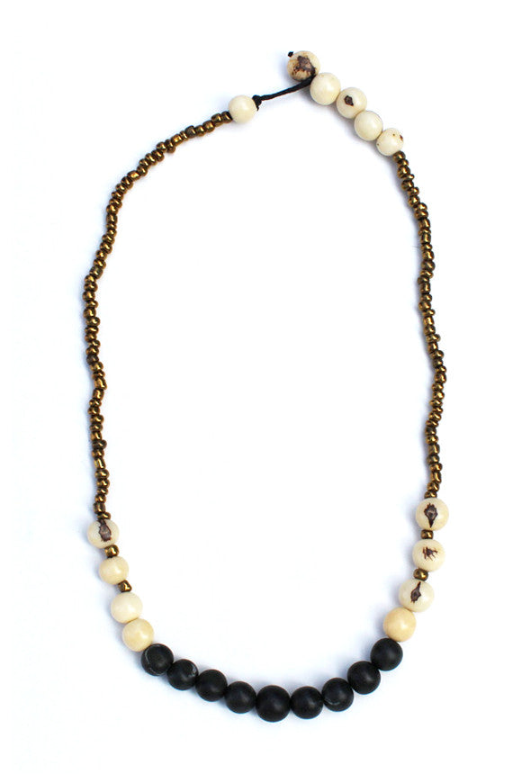 Sucre Necklace Black/Natural