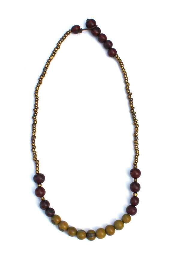 Sucre Necklace Brown/Green