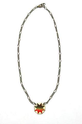 Eco Friendly Aguayo Cloth Sofia Necklace