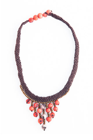 Fair Trade La Paz Necklace Pagoda Red