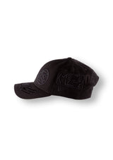 black embroidered multi patches new era cap