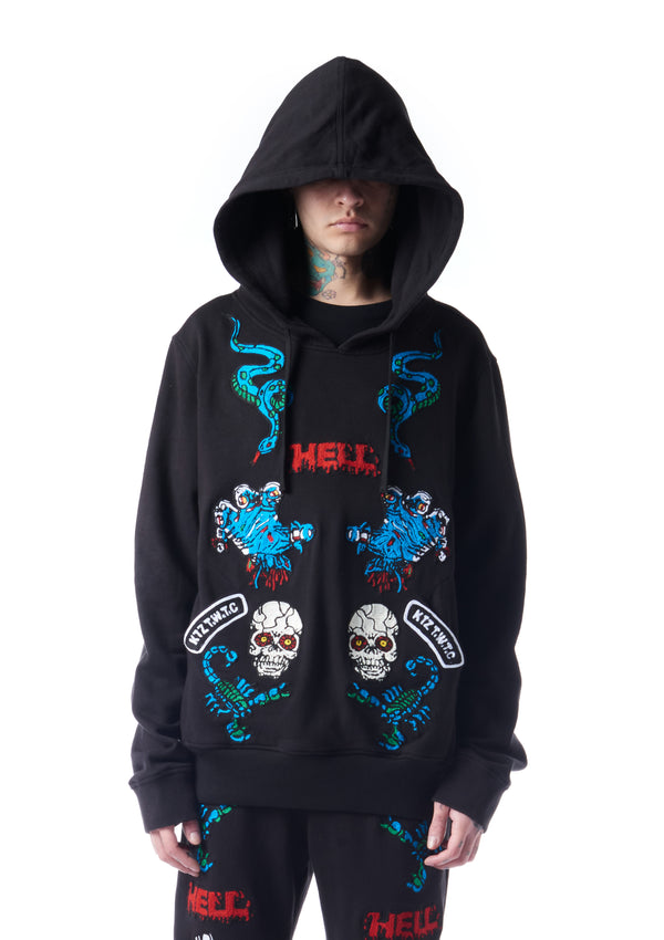 patch-embellished hoodie