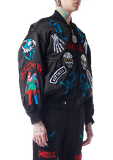 patch-detailed bomber jacket