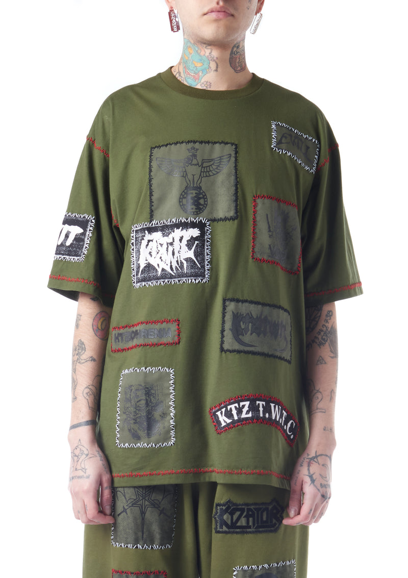 multi-patch T-shirt