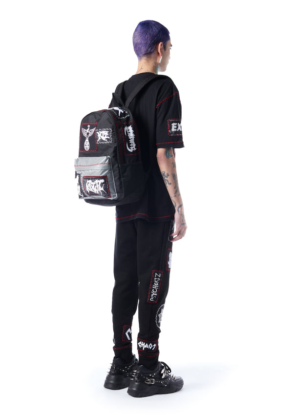 reflective pocket backpack