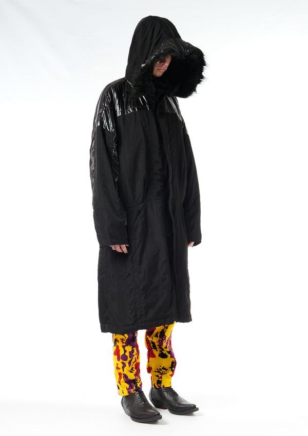 KTZ Archive Fur Hooded Long Winter Jacket