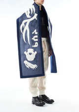 KTZ Archive Shearling Skeleton Patchwork Long Scarf
