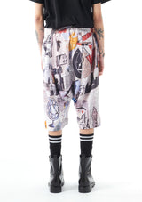 News Paper Printed Gusset Shorts