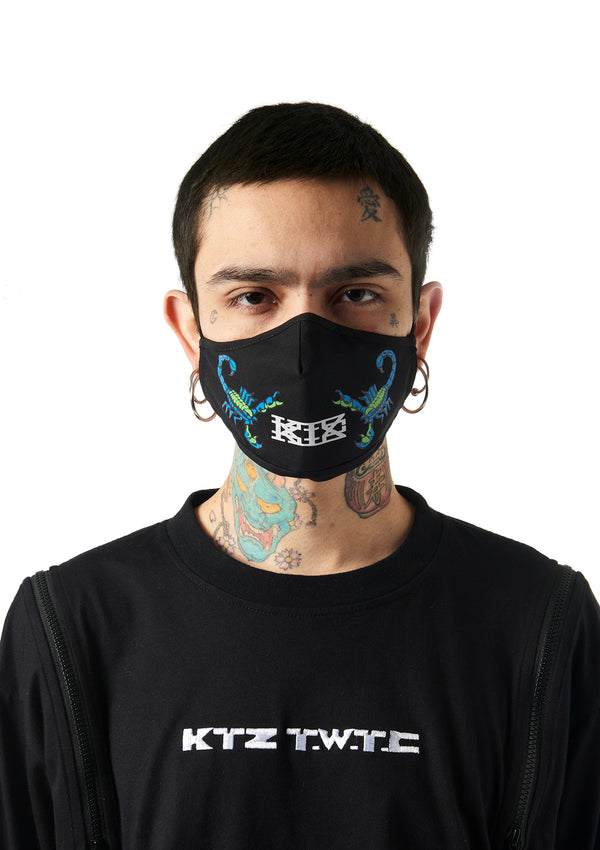 scorpion print studio face mask
