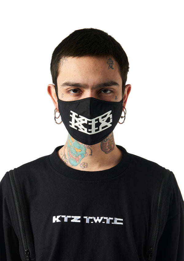 graphic print logo studio face mask