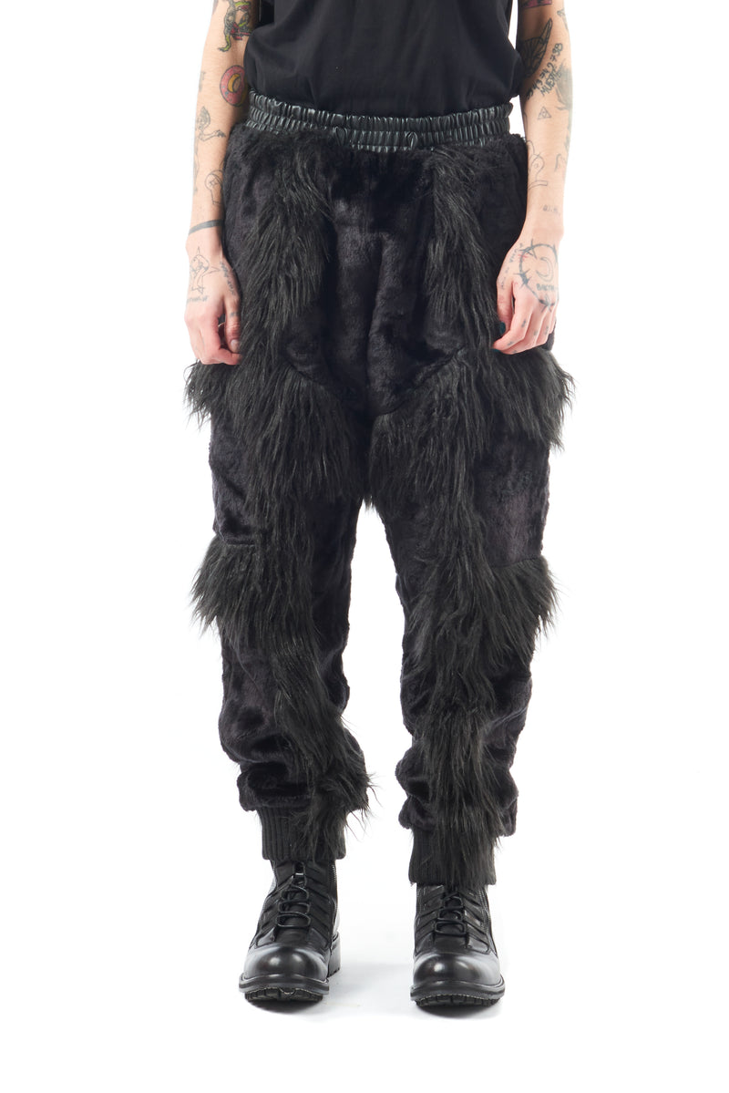 Black Fur Trouser