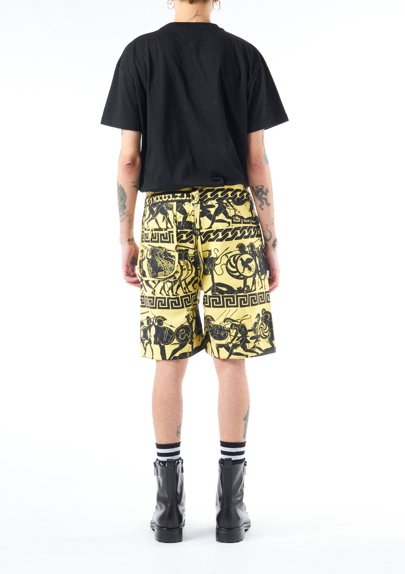 Greek Print Shorts