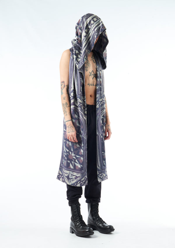 Oversize GatePrint Hooded Scarf