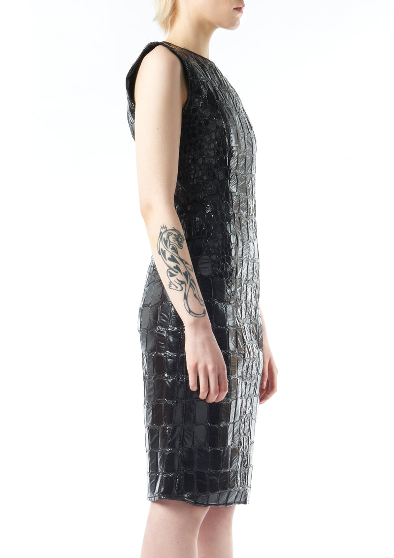 Embroidered scale Dress