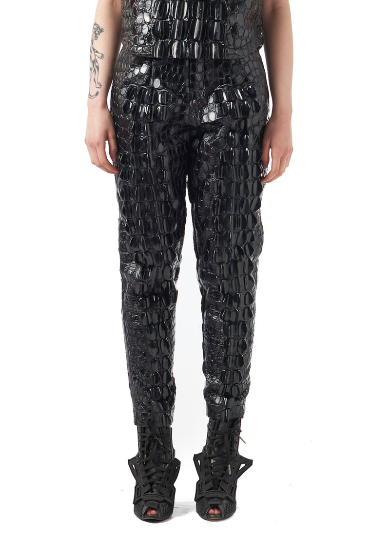 Scale Embroidery Trousers