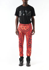 Layer Jogging Pants - Gate Print