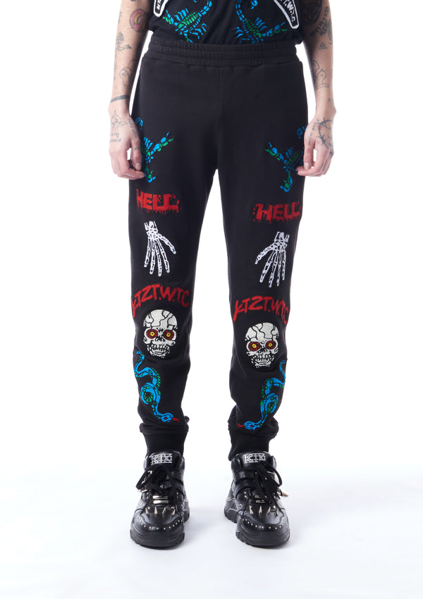 skeleton-print sweatpants