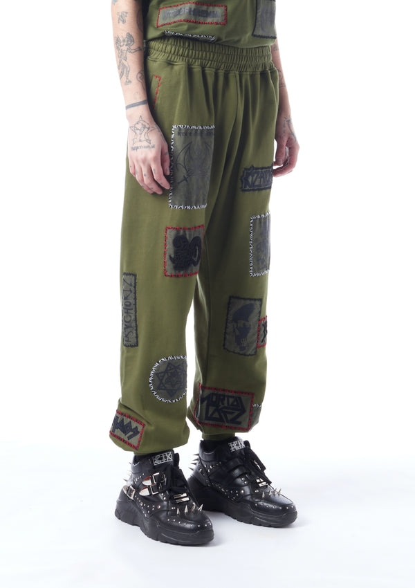 multi-patch track pants