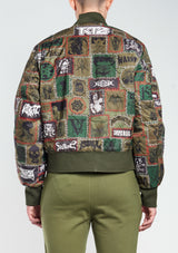 monster patch bomber jacket