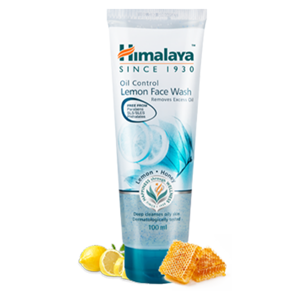 Himalaya Oil Control Lemon Face Wash - Helps Remove Excess Oil
