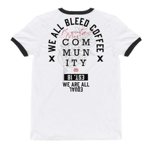 Load image into Gallery viewer, Coffee Community - Ringer T-Shirt
