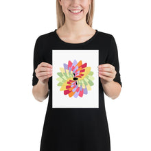 Load image into Gallery viewer, Kayak Flower Colorful Wall Art Print-Art Print-Lena Cox Studio