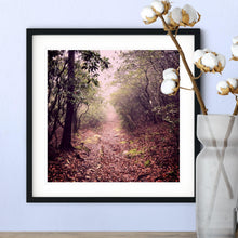 Load image into Gallery viewer, Mountain Landscape in the Fog Photography Square Giclée Art Print-Art Print-Lena Cox Studio
