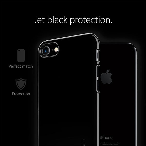Tenký kryt pre iPhone 7 Spigen Thin Fit - Jet Black