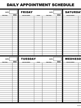 APP-1: Daily Appointment Schedule