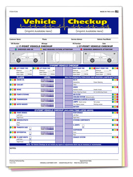 Multi-Point Inspection Forms, 3-Part, Imprinted
