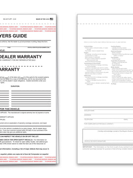"Buyers Guide, ""As Is""; 2-Part NCR"