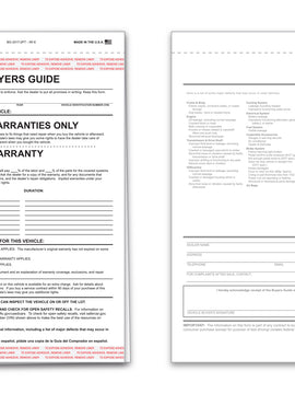 "Buyers Guide, ""Implied Warranty"", 2-Part NCR"