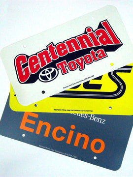 License Plate Inserts, 2-Color