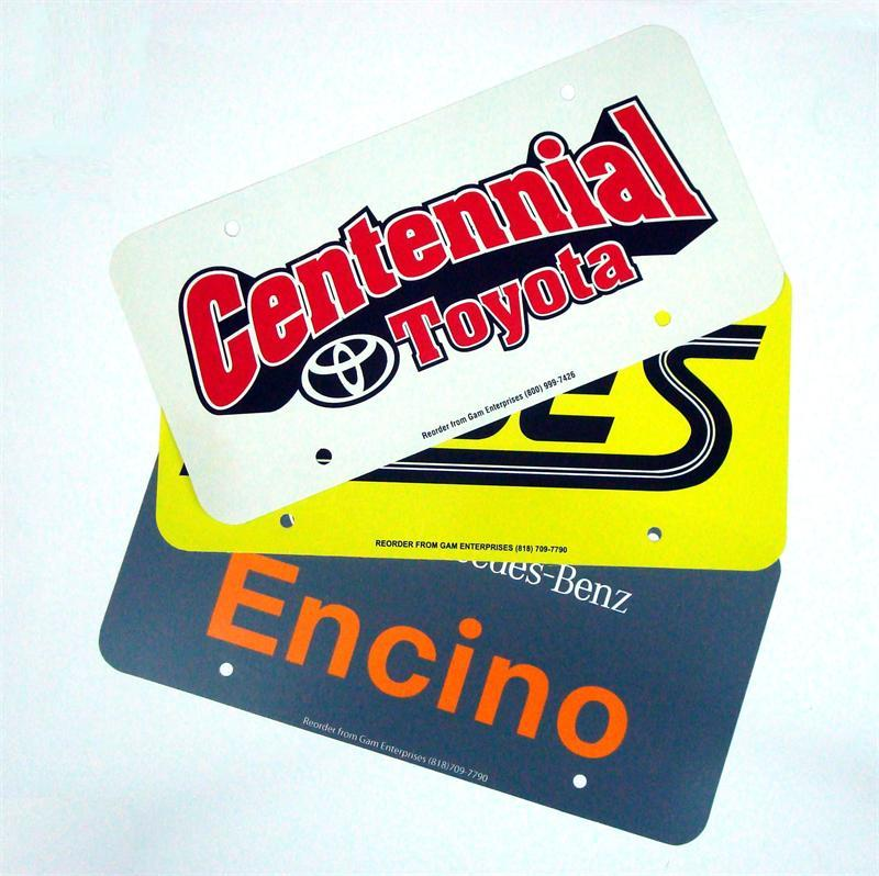 License Plate Inserts, 3-Color