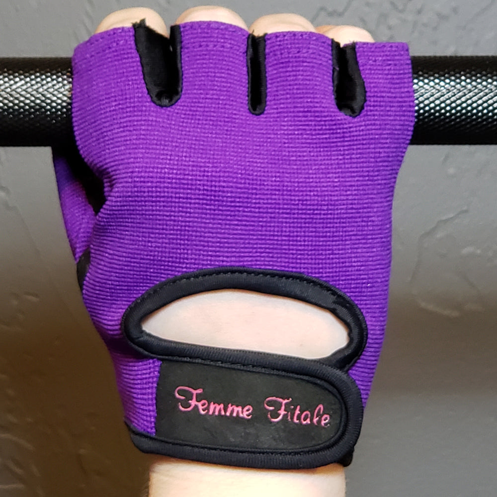 Purple Fitness Gloves - No Crystals