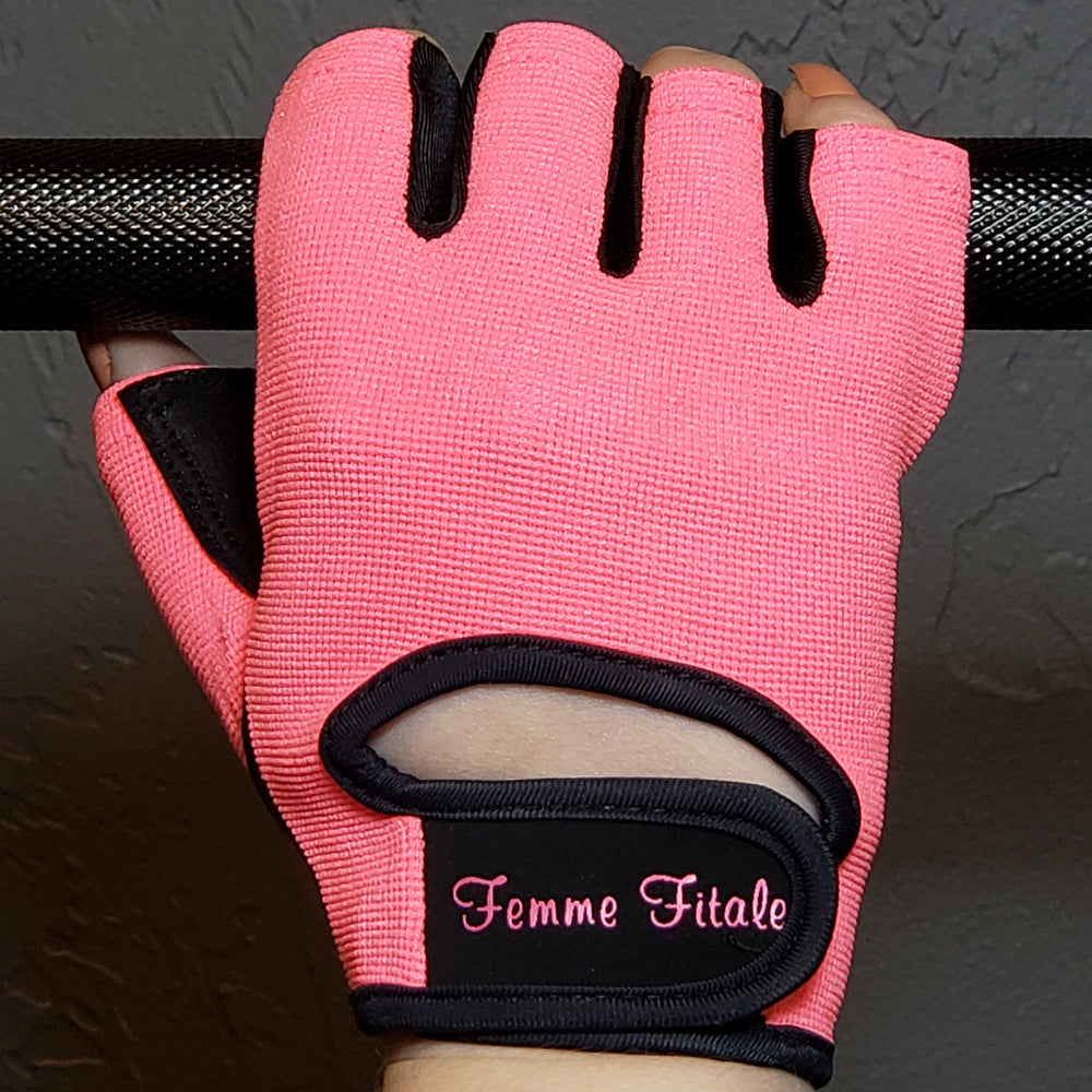 Coral Fitness Gloves - No Crystals