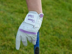 Lavender Swarovski Crystal Embellished Left Hand Golf Glove