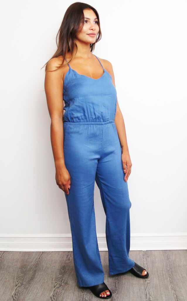 769157dab0d5 Spaghetti Strap Jumpsuit Monrow - Shades of Grey Boutique