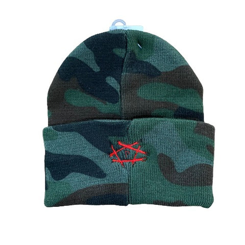 Open Wounds Beanie – (Camo & Red)