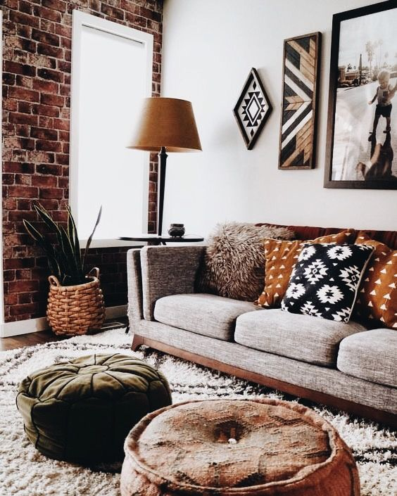 Mud cloth Living Room