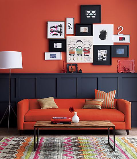 Orange feature wall