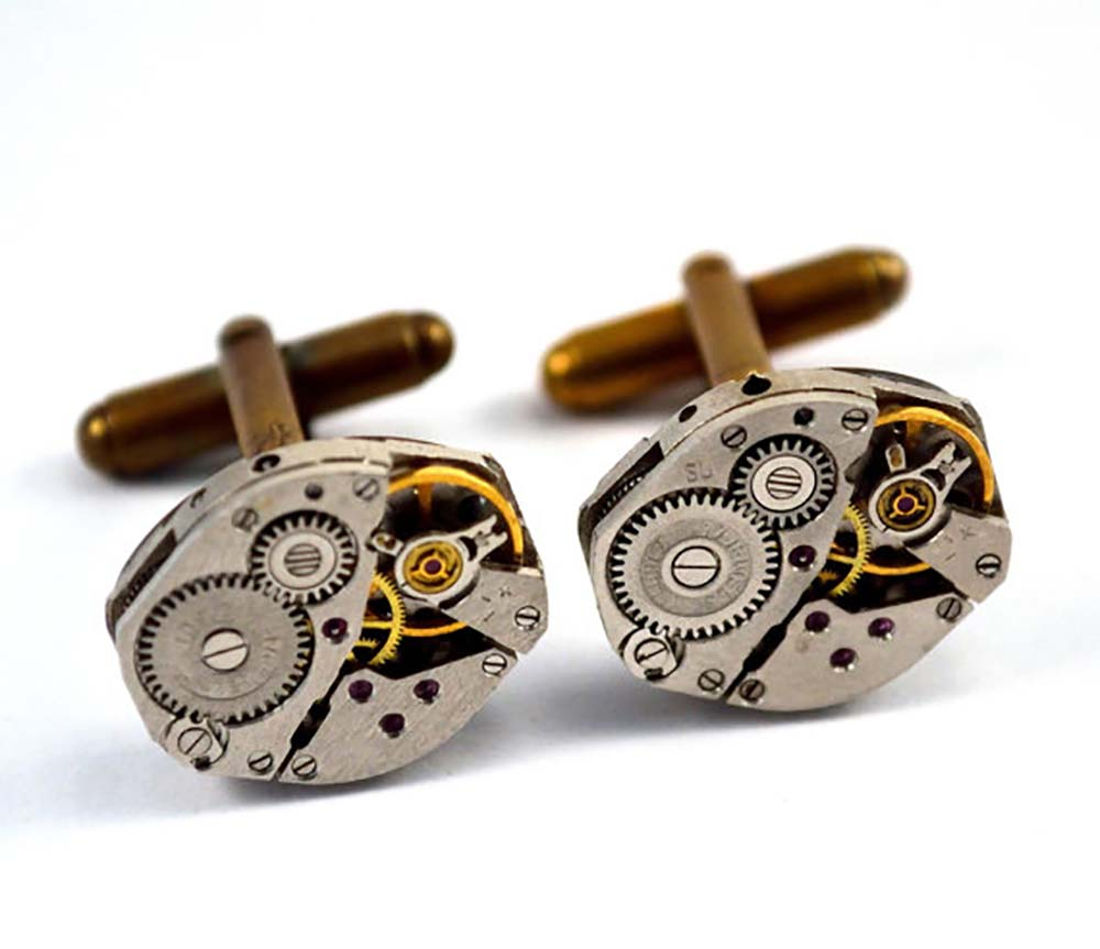 Watch gears cufflinks