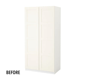 Ikea wardrobe hack before