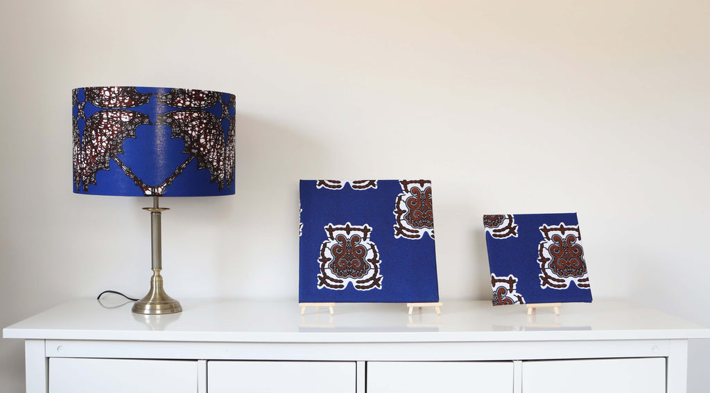 Lampshade & 2 Framed Canvas set